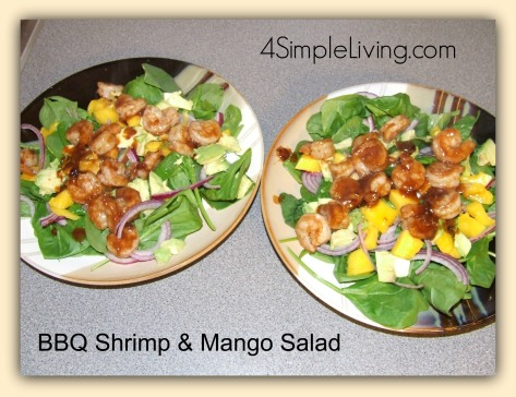 BBQ Shrimp n Mango salad