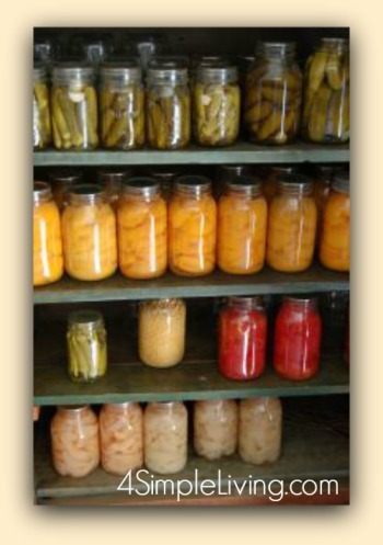 Pantry canning jars