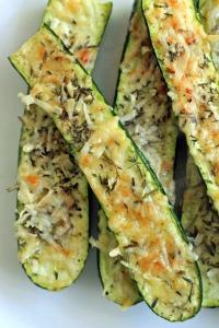 Zucchini-crusty herb n parm