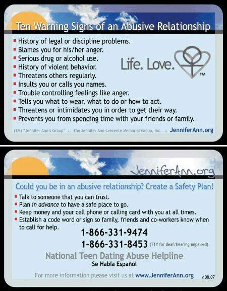 Teen Abuse Card
