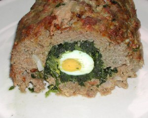meatloaf w-egg&spinach