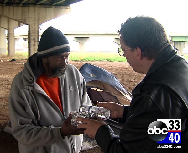 Homeless - bottle of wather