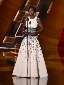 LOS ANGELES, CA - SEPTEMBER 20:  Actress Viola Davis accepts Outstanding Lead Actress in a Drama Series award for 'How to Get Away with Murder' onstage during the 67th Annual Primetime Emmy Awards at Microsoft Theater on September 20, 2015 in Los Angeles, California.  (Photo by Kevin Winter/Getty Images)